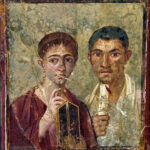 Portrait of Terentius Neo with wife found on wall of Pompeii house. Wikipedia photo.