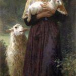 """The Shepherdess,"" William-Adolphe Bouguereau, 1873, WikiArt photo."