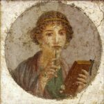 Portrait of Pompeii Girl, 1st century A.D., Wikipedia photo, for this poem, Corina.