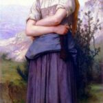 """Knitting Machine,"" William-Adolphe Bouguereau, 1884, WikiArt photo, for this poem Dionē."