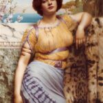 """Ionian Dancing Girl,"" John William Godward, 1902, WikiArt photo, for this poem Ayté."