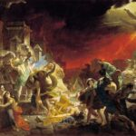 """Last Day of Pompeii,"" Karl Bryullov, 1833, WikiArt photo."