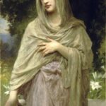 """Modesty,"" William-Adlophe Bouguereau, 1902, WikiArt photo."
