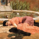 """Dolce Far Niente,"" John William Godward, 1904, WikiArt photo."
