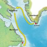"""Vinland-Travel,"" Finn Bjørklid, 2006, Wikimedia map."