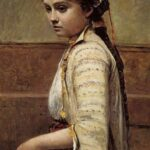 """The Greek Girl,"" John Singer Sargent, circa 1878, WikiArt photo."
