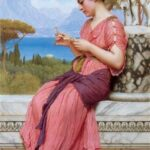 """The Love Letter,"" John William Godward,"" 1913, WikiArt photo."