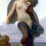 """Evening Mood,"" William-Adolphe Bouguereau, 1883, WikiArt photo."