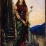 """Helen on Walls of Troy,"" Gustave Moreau, circa 1885, WikiArt photo."
