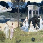 """Sacred Wood Cherished by Arts and Muses,"" Pierre de Chavannes, 1889, WikiArt photo."