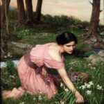 """Spring Spreads One Green Lap of Flowers,"" John William Waterhouse, 1910, WikiArt photo."
