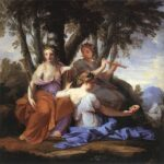 """The Muses,"" Eustache Le Suer, circa 1645, WikiArt photo."