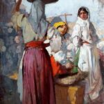 """At the Market,"" Nicolae Vermont, 1912, WikiPainting photo."