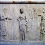 Three of Mantineia Muses, No. 217, Wikipedia photo.