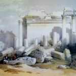 """Portion of Eastern Portico,"" David Roberts, WikiArt photo."