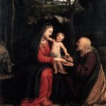 """Rest During Flight to Egypt,"" Andrea Solario, WikiArt photo."