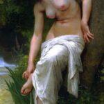"""After the Bath,"" William-Adolphe Bouguereau, 1894, WikiArt photo."
