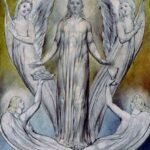 """Angels Ministering to Christ,"" William Blake, 1820, WikiArt photo."