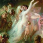 """Charon Carries Dead Souls,"" Konstantin Makovsky, 1861, WikiArt photo."