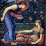 """Cupid and Psyche,"" Edward Burne-Jones, 1867, WikiArt photo."