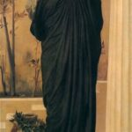 """Electra at Tomb of Agamemnon,"" Frederic Leighton, 1865, WikiArt photo."