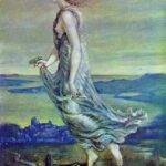 """Hesperus, Evening Star,"" Edward Burne-Jones, 1870, WikiArt photo."