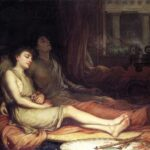 """Sleep and his Half Brother Death,"" John W. Waterhouse, 1874, WikiArt photo."