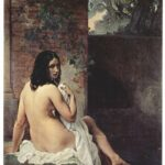 """Back View of Bather,"" Francesco Hayez, 1859, WikiArt photo."