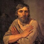 """Farmer with Folded Arms,"" Alexey Veretsianov, WikiArt photo."