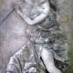 """Muse,"" Andre Mantegna, 1497, WikiArt photo."
