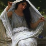 """The Veil,"" William-Adolphe Bouguereau, 1898, WikiArt photo."