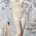 """Venus,"" Albert Joseph Moore, 1869, WikiArt photo."