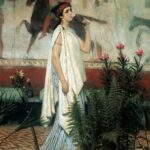 """Greek Woman,"" Sir Lawrence Alma-Tadema, 1869, WikiArt."