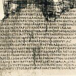 """Homer, Iliad, Papyrus, Hawara 24-28, Wikimedia."