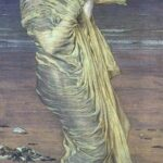 """Seagulls,"" Albert Joseph Moore, 1871, WikiArt photo."