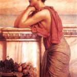 """By the Wayside,"" John William Godward, 1912, WikiArt."