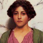 """Classical Beauty,"" John William Godward, 1909, WikiArt."