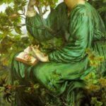 """Day Dream,"" Dante Gabriel Rossetti, 1880, WikiArt."
