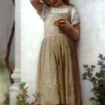 """In Penitence,"" William-Adolphe Bouguereau, 1895, WikiArt."