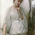 """Reverie,"" William-Adolphe Bouguereau, 1894, WikiArt."