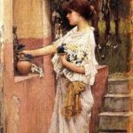 """Roman Offering,"" John William Waterhouse, 1891, WikiArt."