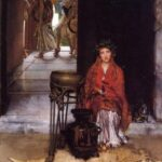 """Way to the Temple,"" Sir Lawrence Alma-Tadema, 1882, WikiArt photo."
