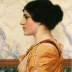 """Cassotis,: John William Godward, 1914, WikiArt."