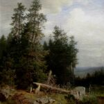 "Edge of the Forest,"" Ivan Shishkin, WikiArt."