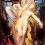 """Leda,"" Gustave Moreau, 1880, WikiArt."