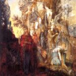 """Muses Leaving Father Apollo,"" Gustave Moreau, 1868, WikiArt."