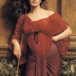 """Roman Matron,"" John William Godward, 1905, WikiArt."