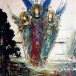 """Voices of Evening,"" Gustave Moreau, 1885, WikiArt."