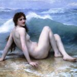 """Wave,"" William-Adolphe Bouguereau, 1986, WikiArt."