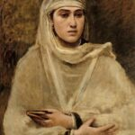 """Algerian Woman,"" Camille Corot, 1873, WikiArt."
